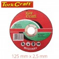 CUTTING DISC MASONRY 125 X 2.5 X 22.2MM
