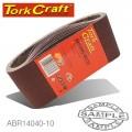 SANDING BELT 100 X 530MM 40 GRIT 10/PACK