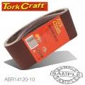 SANDING BELT 100 X 530MM 120GRIT 10/PACK