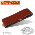 SANDING BELT 100 X 530MM 120GRIT 2/PACK