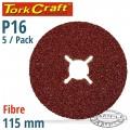 FIBRE DISC 115MM 16 GRIT 5/PACK