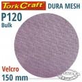 DURA MESH ABR.DISC 150MM HOOK & LOOP 120GRIT BULK FOR SANDER POLISHER