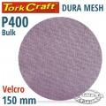 DURA MESH ABR.DISC 150MM HOOK & LOOP 400GRIT BULK FOR SANDER POLISHER