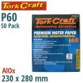 PREMIUM WATERPROOF PAPER  60 GRIT 230  X 280 (50 PIECE) AUTOMOTIVE