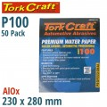 PREMIUM WATERPROOF PAPER  100 GRIT 230  X 280 (50 PIECE) AUTOMOTIVE