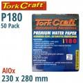 PREMIUM WATERPROOF PAPER  180 GRIT 230  X 280 (50 PIECE) AUTOMOTIVE
