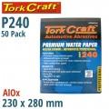 PREMIUM WATERPROOF PAPER  240 GRIT 230  X 280 (50 PIECE) AUTOMOTIVE