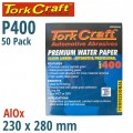 PREMIUM WATERPROOF PAPER  400 GRIT 230  X 280 (50 PIECE) AUTOMOTIVE