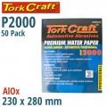 PREMIUM WATERPROOF PAPER  2000 GRIT 230  X 280 (50 PIECE) AUTOMOTIVE