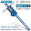 DIGITAL DEPTH GAUGE 0-200MM/0-8'
