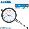 DIAL INDICATOR FLAT BACK WITH SPARE LUG BACK 50MM