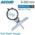 DIAL DEPTH GAUGE BASE 101.5X17MM 0-300MM