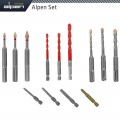DRILL-SCREWSET KIT 13 13 PCS C PROT,MULTI 6-KANT,SDS-PLUS F4 ,4 BITS