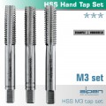 HAND TAP SET IN POUCH M3 HSS 0.5MM PITCH