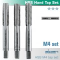 HAND TAP SET IN POUCH M4 HSS 0.7MM PITCH