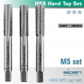 HAND TAP SET IN POUCH M5 HSS 0.8MM PITCH