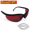 SAFETY EYEWEAR GLASSES RED LENS