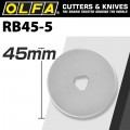 OLFA BLADES ROTARY RB45-5 5/PACK 45MM
