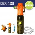 CADEX CO2 GAS TANK 600ML C/W REGULATOR & 175MM HOSE 1/4'F 0-11BAR