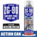 ZG-90 BLACK 500ML BLACK GALVANISING ZINC PAINT COLD RAPID DRY