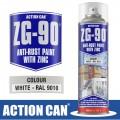 WHITE GALV ZINC PAINT SPRAY ZG-90 WHITE 500ML