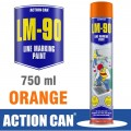 LM-90 ORANGE 750ML LINE MARKING PAINT