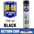 LM-90 BLACK 750ML LINE MARKING PAINT