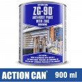 ZG-90 ANTI RUST PAINT SILVER 900ML COLD ZINC GALVANISING RAPID DRY