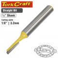ROUTER BIT STRAIGHT 1/8' (3.2MM)