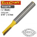 ROUTER BIT STRAIGHT 3/16' (4.762MM)