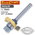 ROUTER BIT SLOTTED 1/4' (6.35MM
