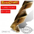 DRILL BIT HSS TURBO POINT 11.0MM 1/CARD