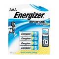 ENERGIZER ADVANCED AAA - 4 PACK  (MOQ 12)