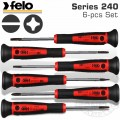 FELO 240 S/DRIVER SET 6PC PRECISION SL & PH ROT. CAP