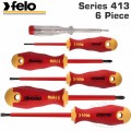 FELO 413 S/DRIVER SET 6PC ERGONIC INSULATED VDE SL/PH/MAINS TESTER