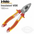 FELO PLIER COMB. 180MM INSULATED VDE