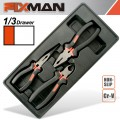 FIXMAN 3-PC PLIERS SET (COMBINATION 8'NCUTTING 7.5' LONG NOSE 8')