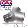 Y CONNECTOR 1/4'MFF GIO1071-2 PACKAGED