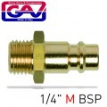 CONNECTOR BRASS 1/4'M