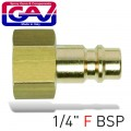 CONNECTOR BRASS 1/4'F