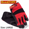 WORK GLOVE LARGE-ALL PURPOSE RED WITH TOUCH FINGER