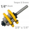 TONGUE & GROOVE ASSEMBLY 3/8' X 1/4' 1/4' SHANK