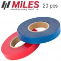 REPL. TAPE  FOR MILES TAPE TOOL 20PC BOX RED & BLUE 30M EACH