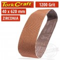 1200 GRIT ZIRCONIA SANDING BELTS 40MMX620MM