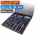 THREAD REPAIR  KIT 3PCS COMBINATION SET M6/M8/M10 INTERNAL (METAL BOX)