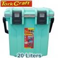 COOLER BOX HEAT INSUL. 20L 331 X 196 X 367MM ID GREEN