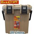 COOLER BOX HEAT INSUL. 20L 331 X 196 X 367MM ID GREY