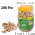 DOMINO TENON 6X40MM 250PC JAR BEECH WOOD