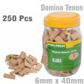 DOMINO TENON 6X40MM 250PC JAR BEECH WOOD