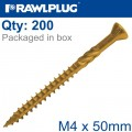 R-DSX SCREWS M4 X 50X30 GINGER RUSPERT X200-BOX